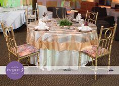 Mesas ajustadas al número de asistentes en tu evento.