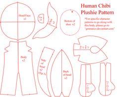 Human Chibi Plushie Pattern by GrnMarco.deviantart.com on @DeviantArt