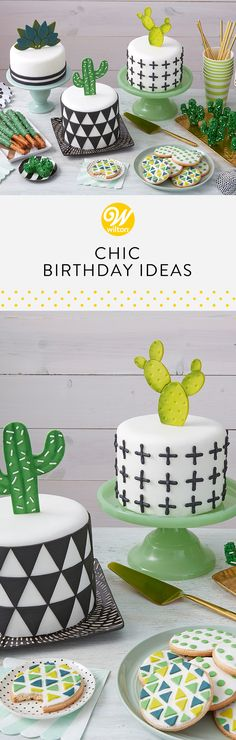 Bake and decorate the trendiest and most chic birthday cake for your special someone. From Succulents to Unicorns, you can really get creative with all of the unique birthday cake decorating options! #wiltoncakes #birthday #birthdaypartyideas #birthdaycake #birthdaycakeideas #birthdaydesserts #birthdaytreatstotaketoschool #birthdaythemes #birthdaytreats #birthdaytreatsforschool #birthdayideas #birthdaypartyfood #birthdaykids