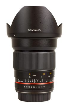 Samyang 24mm 1:1.4 ED AS UMC  Samyang 24 mm F1.4 ED AS UMC has been designed to work with most popular reflex cameras produced by renown manufacturers and equipped with small-image sensors or smaller.