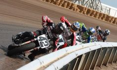 Motorcycle Flat Track Racing!