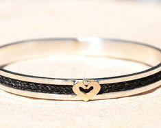 6b359d2ca Custom horsehair bracelet, sterling silver horsehair bracelet,rose gold  horsehair bracelet, bracelet,horsehair bangle, horse bangle