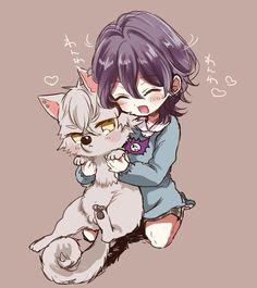 Sakuma Rei, Koga Oogami (UNDEAD) Cute Anime Boy, Anime Guys, Manga Anime, Sakuma Rei, Chibi Boy, Anime Child, Ensemble Stars, Decoupage, Bungo Stray Dogs