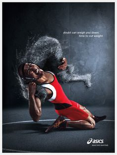 advertsing ASICS Wrestling