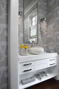 Powder Room Decorating Ideas | Powder Room Design Ideas, Pictures, Remodels and Decor
