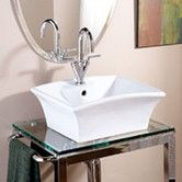 Found it at AllModern - Classically Redefined Rectangular Ceramic Vessel Bathroom Sink with Overflow