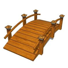 Garden bridges with 6'/2m span in a variety of sty....