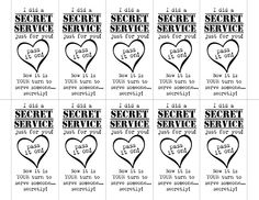 September Primary Sharing Time - Secret Service free printable.  Use in Primary, Activity Days, Young Womens, Family Home Evening.