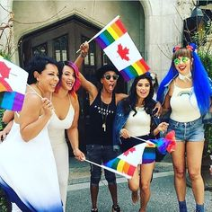 the #oitnb ladies know how to get their #pride on... regram @dianeguerrero_