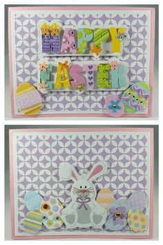 4/16/17- Happy Easter... #cards #handmade #stamps #stamping #paper #papercrafting #cardstock #glitter #rhinestones #eastercard #easter #happyeaster #eastereggs #eggs #pastels #easterbunnies #bunnies