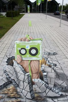 Magnificent 3D Street Painting by Manfred Stader | The Wondrous Design Magazine