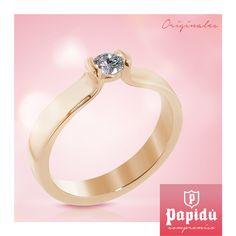 Encuentra diseños exclusivos de anillos de compromiso en #JoyeriaPapidu. Visítanos será un placer atenderte.