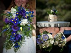 wild looking blue wedding flowers - Google Search