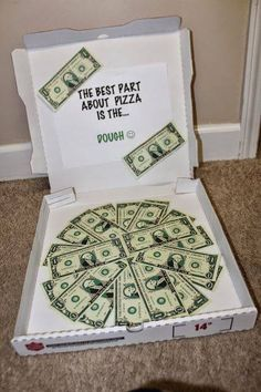 Creative Ways To Give Cash. Creative Ways To Give Cash. Dominos Pizza Gif… Creative Ways To Give Cash. Creative Money Gifts, Cool Gifts, Gift Money, Money Gifting, Foto Gift, Homemade Gifts, Craft Gifts, Diy Gag Gifts, Holiday Gifts