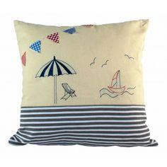 Nautical cushion www.beach-style.co.uk