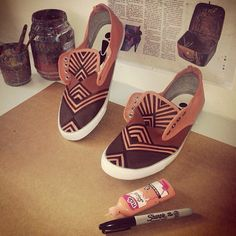 A personal favorite from my Etsy shop https://www.etsy.com/ie/listing/205328843/mens-aztec-shoes