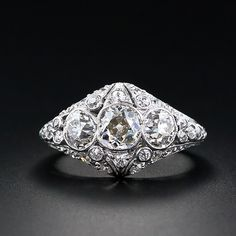 early 1900s Edwardian platinum bombe ring... Love, it's a definite possibility to be resting on my ring finger :)