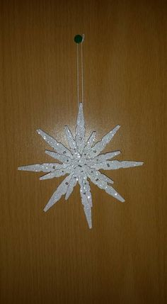 Snowflake Craft Snowflake Craft Clothes pin crafts Creative Decorating DIY Can Make With Snowflake Craft, Snowflake Ornaments, Handmade Ornaments, Diy Christmas Ornaments, Christmas Deco, Homemade Christmas, Christmas Projects, Holiday Crafts, Christmas Snowflakes