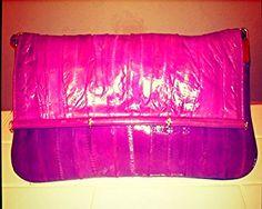 Vintage eel skin pink purse with strap $98