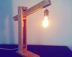 Desk lamp with Edison light by fabrikeria on Etsy