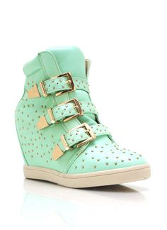 $27.95 Go Jane!!!.. Way Cheaper than DSW!!!!,,. Studded Wedge Sneakers!!!!...
