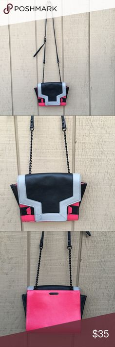 "Vince Camuto cross body purse Pink black and grey cross body purse. 100% genuine leather.8"" wide x 8"" length Vince Camuto Bags Crossbody Bags"