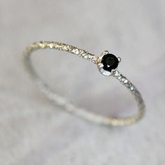 Black diamond ring by PraxisJewelry on Etsy Praxis Jewelry $58.00
