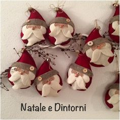 Célèbre Pin by Lauri Kraus on Christmas 2017 Christmas Makes, Christmas Art, Christmas Projects, All Things Christmas, Christmas 2017, Christmas Holidays, Felt Christmas Decorations, Felt Christmas Ornaments, Santa Ornaments