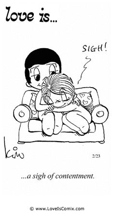 Love+Is+by+Kim+Casali+Comic+Archive+Gallery | Love Is... a sigh of contentment.