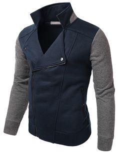 Cotton Comfort Slim Diagonal Zip-Up Jacket(CMOJA046)
