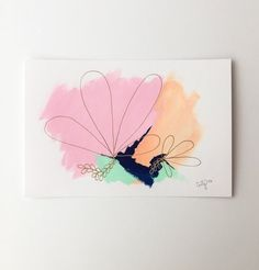 chic and feminine abstract painting with shimmer gold line work by Megan Carty www.megancartyart.com