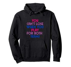 Amazon.com: Play for Both Teams Bisexual Pride 2019 Pullover Hoodie: Clothing