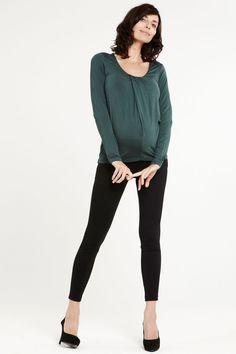 SLACKS & CO - Pantalon de grossesse skinny en jersey noir San Diego // Skinny maternity trouser in black jersey San Diego