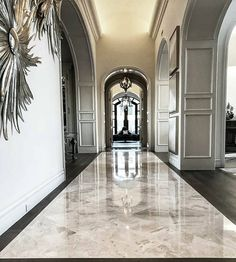 Home Decorating Magazines Usa Foyer Design, House Design, Foyer Flooring, Marble Tile Flooring, French Villa, House Entrance, House Rooms, Home Fashion, My Dream Home