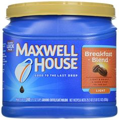 Maxwell House Master Blend Custom Roasted Full Flavor Coffee Value Container 445 Ounces *** Click image for more details. (This is an affiliate link)