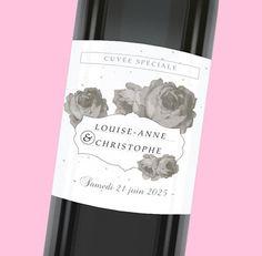 Étiquette de bouteille mariage pour une décoration personnalisée dans les moindres détails, réf.N300629