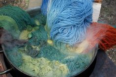 Natural dyed last summer.