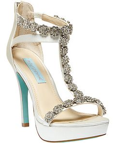 SB-ADORE IVORY SATIN #BetseyJohnson- ordered these but dunno if I can pass on the jimmy choos!!