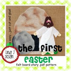 The First Easter Bible Story Flannel/Felt Board by LindyJDesign