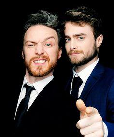 Daniel Radcliffe & James McAvoy | 2015 Jameson Empire Awards Photobooth