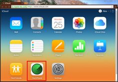 Find iphone using iCloud
