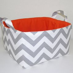 Chevron Totes - I think I will make 3 with olive green liners to go on the bottom of the coffee table for magazines and toys and the like.