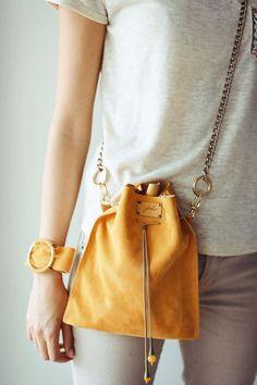 Yellow Handbag, Designer Bag, Handmade Bag, Yellow Bag, Leather Pouch, Pouch Bag, Bucket Bag, Leather Cross Body Bag, Trendy Bag, Summer Trend, Travel Bag, Minimal Bag