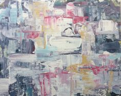 """untitled 7271 48""""x60"""" oil on canvas by lindsay cowles"""