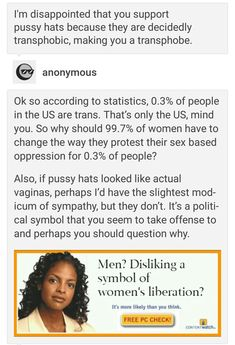 Pussy hats are not transphobic and neither are actual vaginas