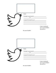 twitter template for students