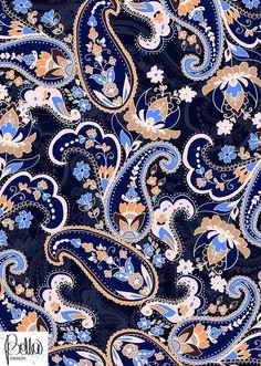 Grow Your Textile Design & Surface Design Business Mais Paisley Wallpaper, Paisley Art, Paisley Design, Pattern Wallpaper, Textile Patterns, Textile Prints, Textile Design, Print Patterns, Lino Prints