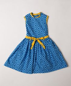Look what I found on #zulily! Silhouette Geo Barceloneta Dress - Infant, Toddler & Girls #zulilyfinds