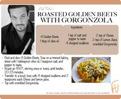 Roasted Golden Beets with Gorgonzola #Christmas