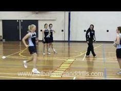 Netball Skills and Drills - Level 2 Ladder Drills - YouTube